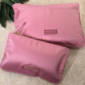 Prada Candy soft light pink cosmetic cases 2 pc
